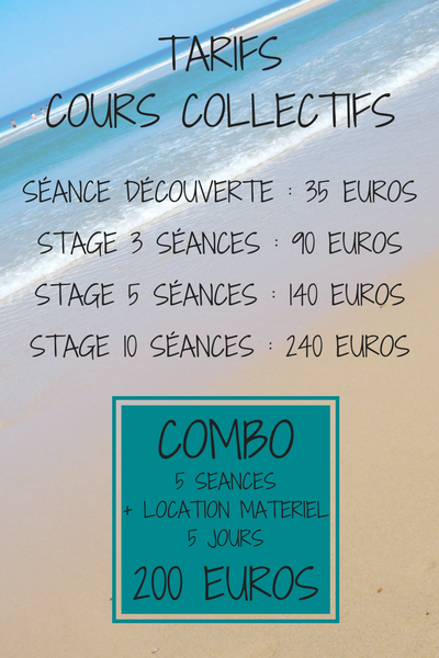 TARIFS COURS COLLECTIFS SO NICE SURF SCHOOL
