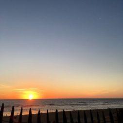 coucher de soleil le porge océan
