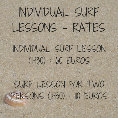 private surf lesson, surf lesson for two people, surf school, le porge ocean, gironde