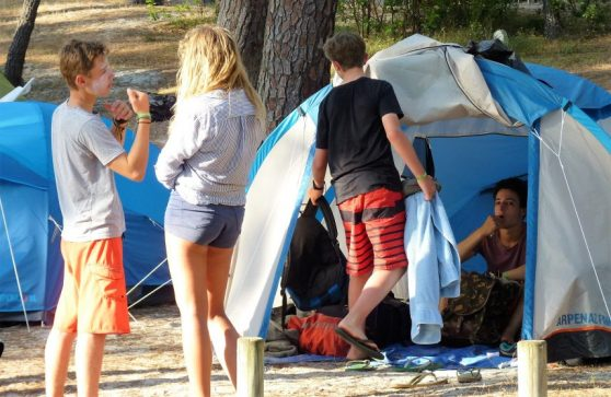 sejour surf pour adolescents, hébergement au camping la grigne, le porge ocean